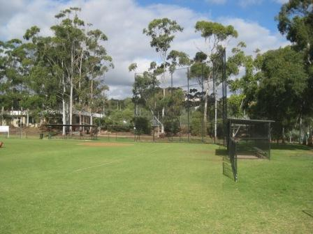 "The Flinders University Baseball Diamond (""the Ballpark"") is currently located on the Sturt Oval adjacent to the Sturt Gymasium and the Northern Campus of Flinders University at Bedford Park. The diamond features a 8 metre high backstop and enclosed dugouts which was erected in 2000. This backstop and facility was made possible through funding from the Flinders University Sports Association and the Office for Recreation and Sport. Thanks must also go to Matt Miles, who lobbied the Sports Association for years to have this facility built and George Lewis for his work in managing the 2nd stage that included the dugouts."